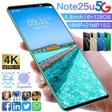 Teléfono Móvil note 25u de 5,8 pulgadas, 4 + 128GB, 18 + 21MP, Doble tarjeta SIM, versión Global, 8 núcleos, Android 10, MTK6895, 2021