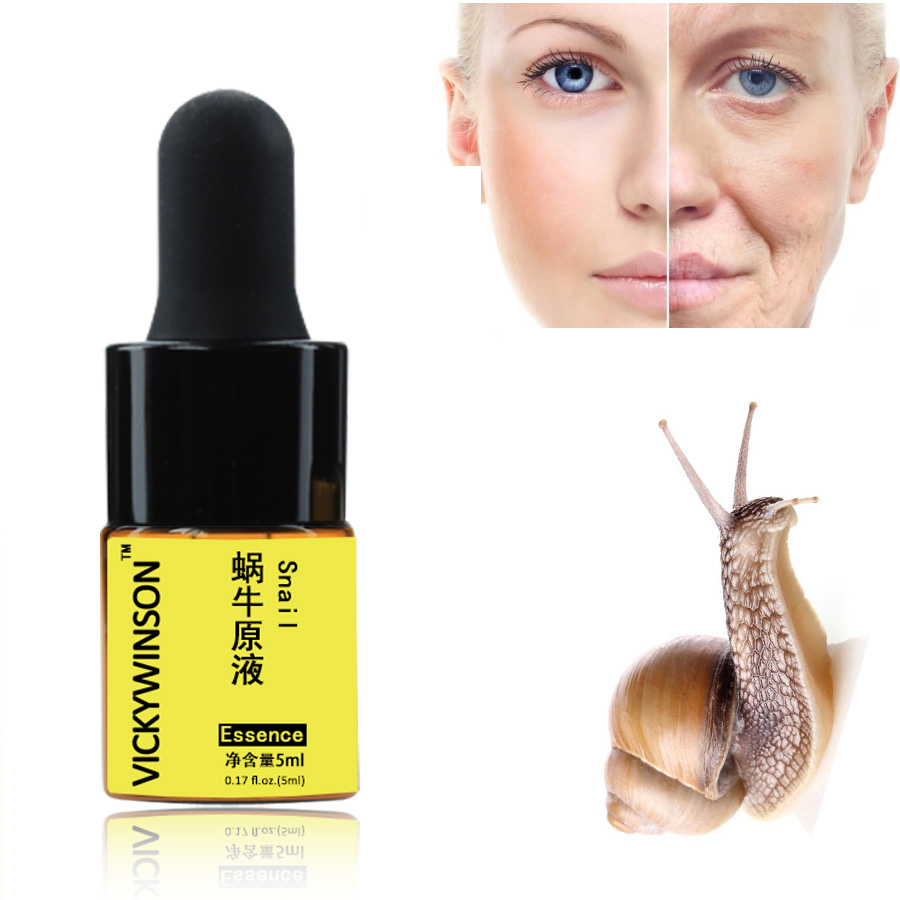 Hyaluronic Acid Face Serum Moisturizing Anti Aging Snail Essence Pore Minimizer Acne Treatment Serum Facial Skincare 5ml