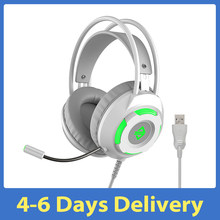 Gaming Headset Ajazz AX120-7,1 Kanal Stereo Noise Cancelling Über Ohr Rosa Kopfhörer Mic Bass Surround Ohrenschützer Kopfhörer
