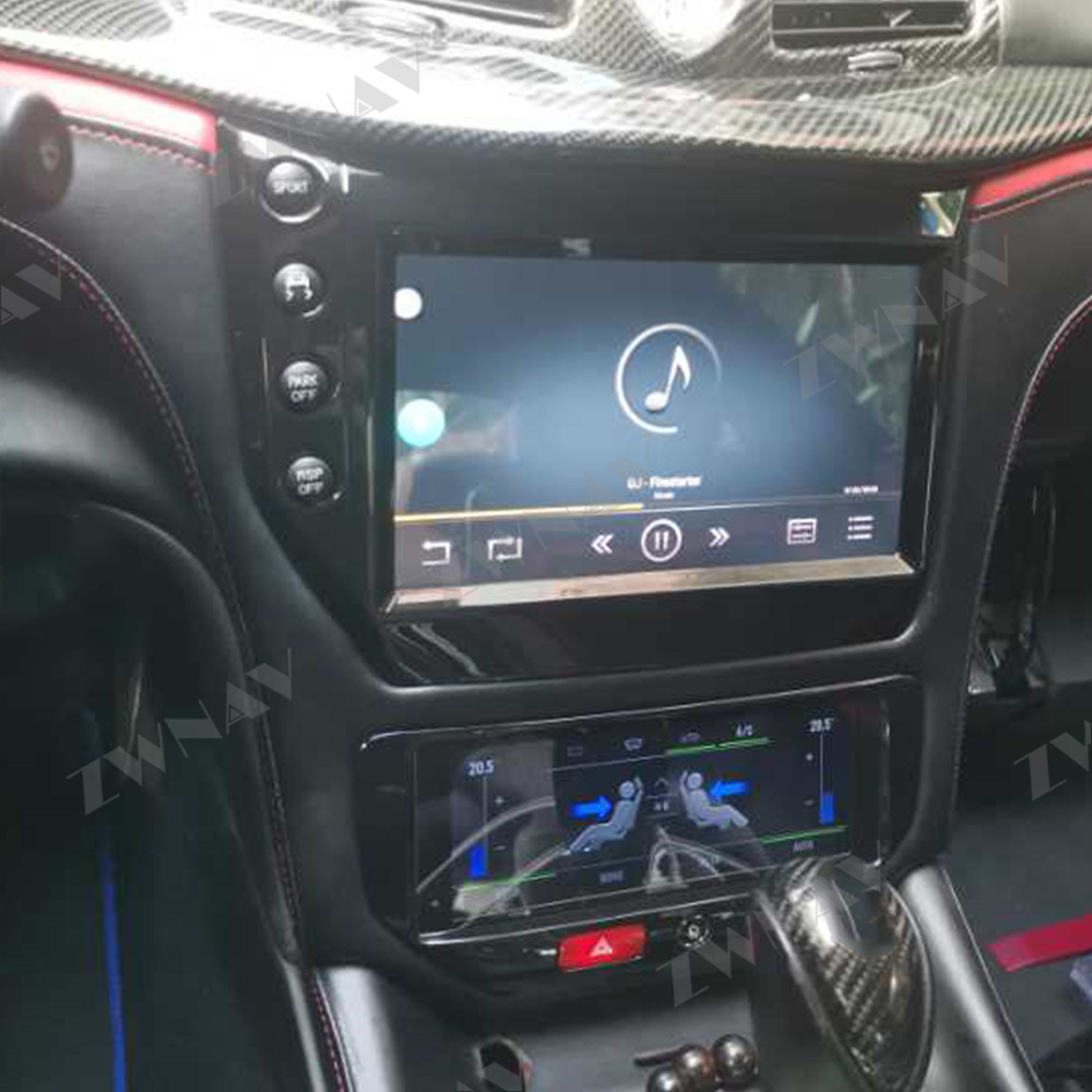Carte A/C pour Maserati GT/GC GranTurismo noir ou fibre de carbone 2007 - 2017 lecteur multimédia autoradio GPS navigation Headunit