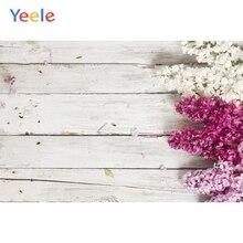 Yeele Vinyl Photophone Wooden Board Flowers Baby Pet Portrait Photo Background Photo Backdrops Photophone For Photo Studio Props