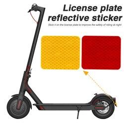 Отражатель заднего крыла, предупреждающая наклейка для Xiaomi Mi Electric Scooter Pro 2, наклейка для заднего брызговика, аксессуары для скутеров, Прямая ...