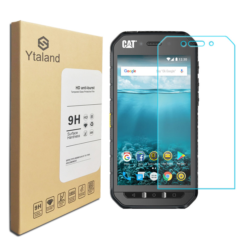 Ytaland For Cat S31 / S41 / S61 / S60 / S52 Premium Tempered Glass Screen Protector Film Toughened Protective(China)