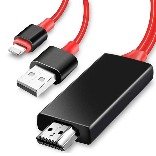 USB hdtv مربع ل البرق HDMI كابل iphone X/XS/8 زائد/7/6 s/6/5 s تحويل بود ipad إلى التلفزيون عارض فيديو AV الرقمية محول