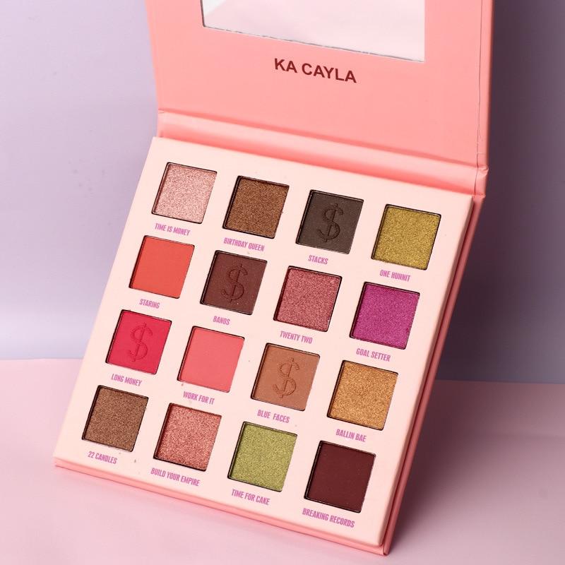 16 Color Matte Eyeshadow Palette Long Lasting Glitter Eyeshadow Shimmer Matte Nude Pigment Waterproof Eye Shadow