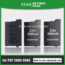 1200mAh 2400mAh 3600mAh 3.6V lityum şarj edilebilir pil paketi Sony PSP 2000/3000 için PSP2000 PSP3000 Gamepad yedek hücreler