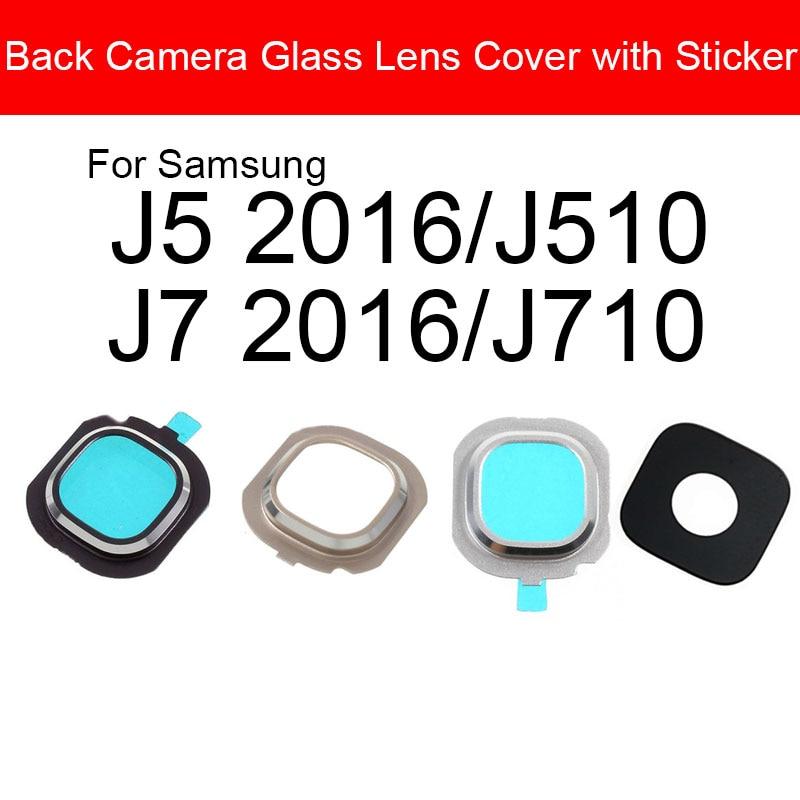 Back Camera Lens For Samsung Galaxy J5 J7 2016 J510 J710 Rear Camera Glass Lens With Adhensive Sticker / Glue Frame Parts