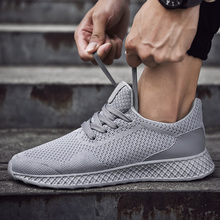 цена на Running Shoes for Men 2020 Summer New Men Sneakers Lace Up Low Top Jogging Shoes Man Athletic Footwear Breathable mesh shoes