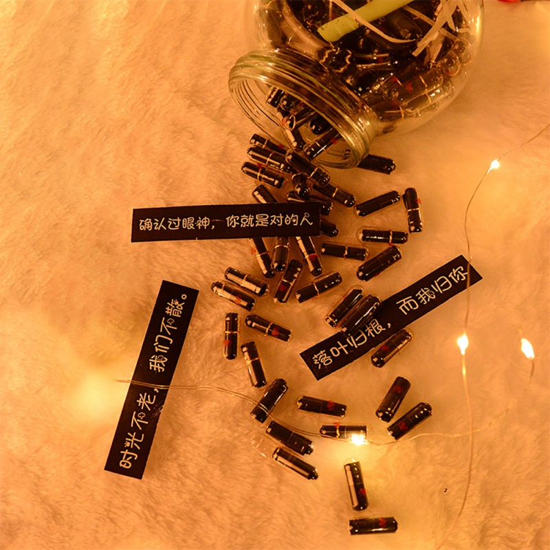 100/520Pcs DIY Creative Valentine's Day Gift Capsule Love Letter Gift Pill Capsule Small Love Writing Note Birthday Gift Decor
