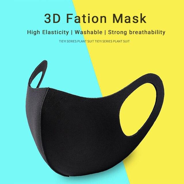 Dustproof Mouth Face Mask Anime Cartoon Kpop Lucky Bear Women Men Muffle Face Mouth Masks halloween Masks Black Fashion Mask 1