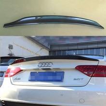 Estilo do carro a5 caractere estilo fibra de carbono spoiler traseiro asa para audi a5 2 door 2010-2013