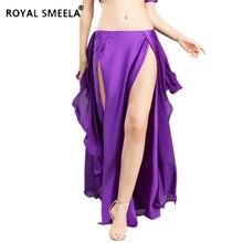 Горячая Распродажа, новинка, юбка для танца живота с двойным разрезом, сексуальное платье для Танцев Живота, юбка с изображением лотоса, костюм для танца живота 6810