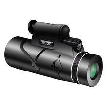 50X60 HD monokularowy Zoom luneta noktowizyjna z lampa i noc laserowe lunety myśliwskie Spyglass na polowanie Camping