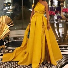 vestido de festa longo Elegant Long Evening Dresses Abiye Custom Made Gold Formal Prom Dress Pleats Sleeves robe de soiree abendkleider prom gown khaki full sleeves mermaid evening dresses 2019 peplum abiye robe de soiree elegant evening dress long