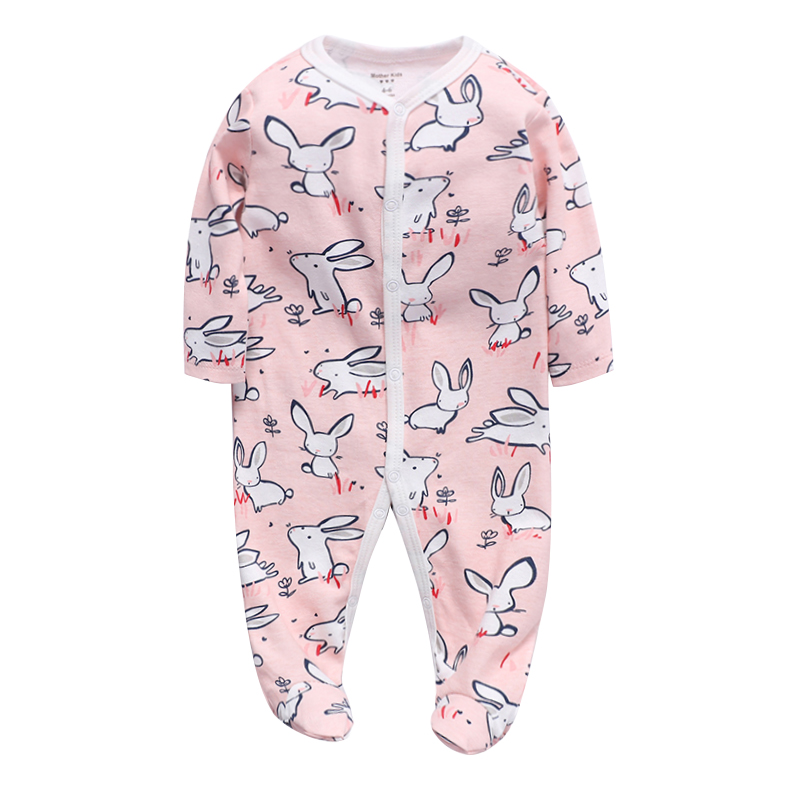 pcs Baby Girl Boy Clothes Footed Rompers Comfortable Newborn Pajamas Cartoon Printed Infant Jumpsuit Romper Girls