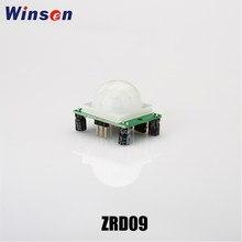 2 pces winsen ZRD-09 pir sensor infravermelho piroelétrico módulo sensor de movimento 5-20v dc indução automática dois modos de gatilho