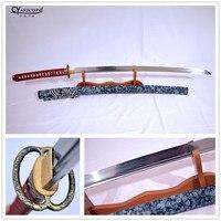 Alloy Musashi Tsuba HANDMADE Clay Tempered T 10 Steel Japanese Samurai Katana Functional Sword Real Yokote