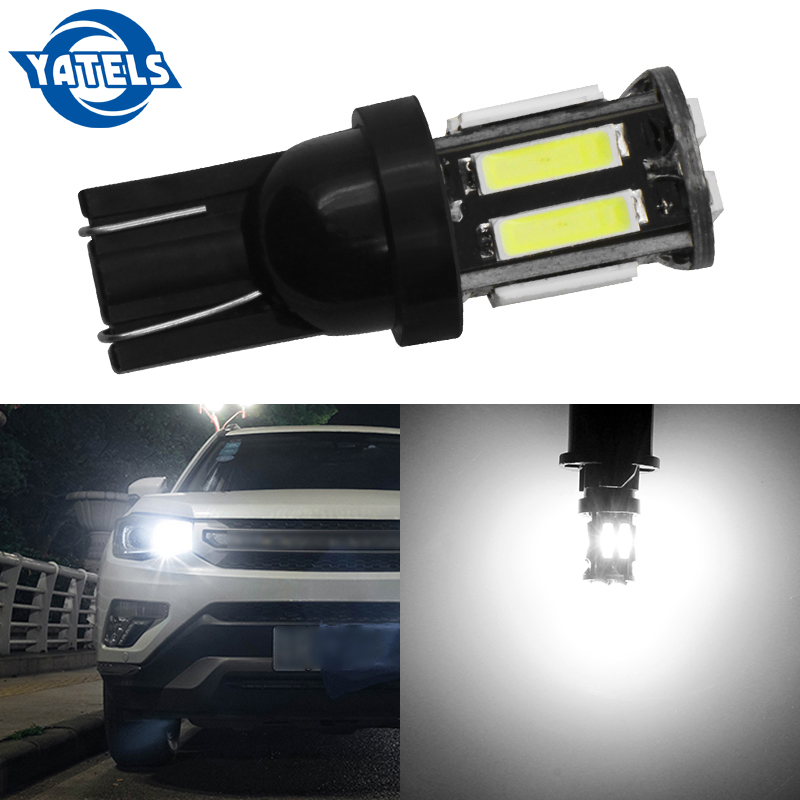 1 PCS W5W 10 7020 SMD Car T10 LED 194 168 Wedge Replacement Reverse Instrument Panel Lamp White Bulbs For Clearance Lights