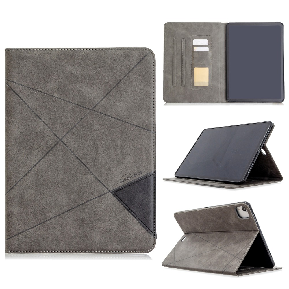 Back For Wallet 12.9 Soft Pro Silicone iPad 2018 Case Leather Holder Cover PU With 2020