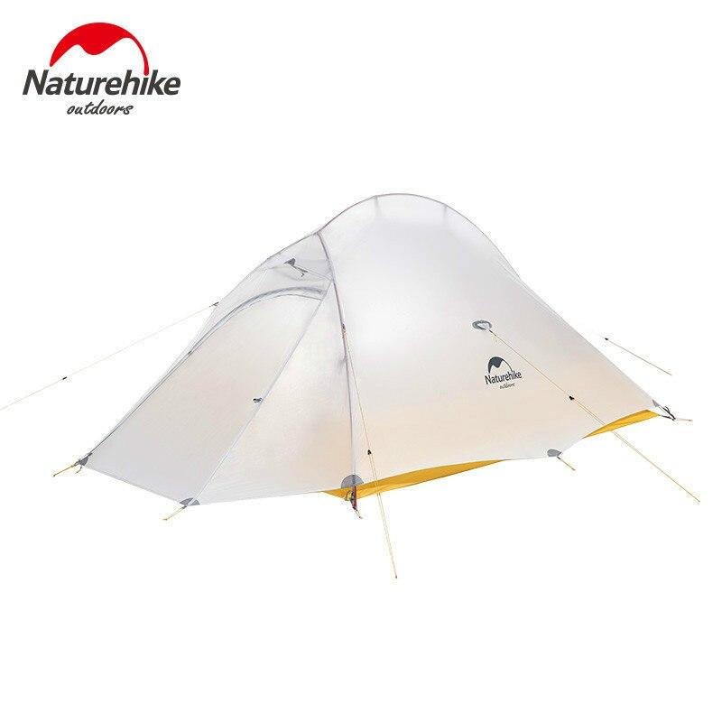 Naturehike новое обновление Cloud UP 2 Сверхлегкий тент 10D нейлоновый силиконовый портативный автономный Открытый Кемпинг палатки с бесплатным ковриком