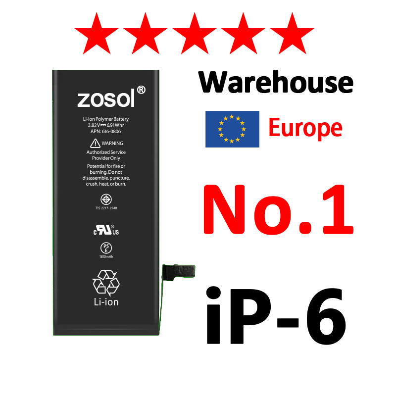 Zosol AAAAA Quality Original Lithium Battery For iPhone 6 6G Genuine Replacement Batteries Internal Phone Bateria 1810mAh
