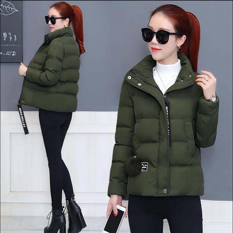 Women's   basic   jacketes coat 2019 winter new down cotton clothing fashion loose wild cotton short   jacket   4919