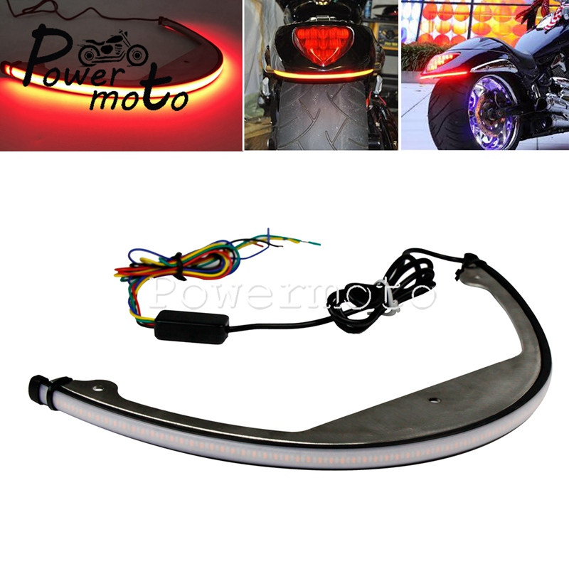 LED Tail Tidy Fender Eliminator Bracket Bar Sequential Switchback Tail Brake Turn Signal Light For Suzuki Boulevard M109R M90