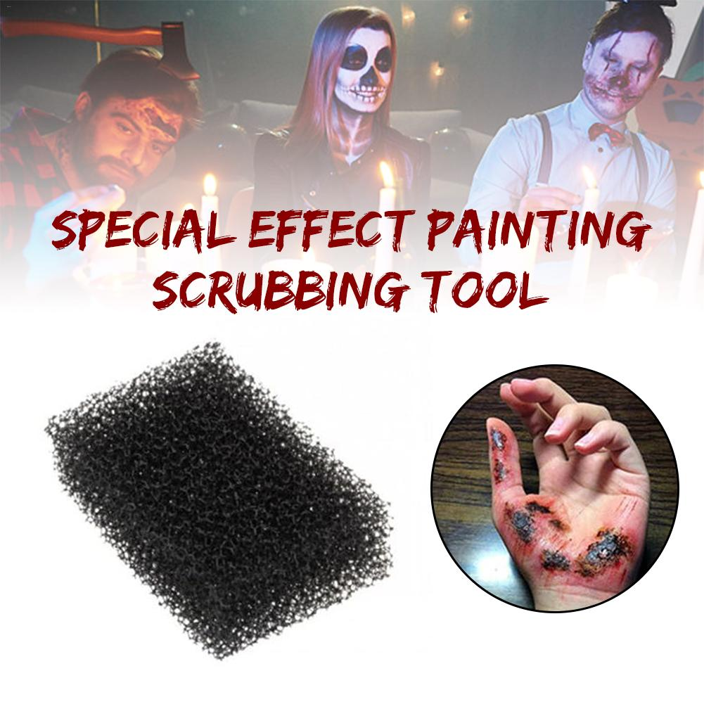 1pcs Black Dot Painting Sponge Halloween Face Makeup Tool Special Effect Sponge Painting Scrubbing Tool For Products