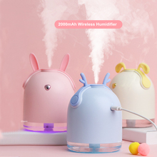 все цены на Cute Pet Wireless Humidifier 2000mAh Rechargeable Portable Ultrasonic USB Aroma Essential Oil Diffuser Color LED Humidificador онлайн