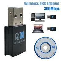 300m usb wifi adaptador ethernet lan sem fio 802.11n portátil 8192ue dongle cartão adaptador 2.4g wi fi receptor wi-fi mini mb