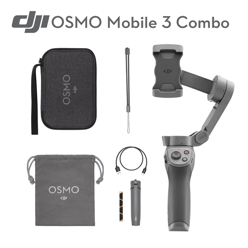 DJI Osmo Mobile 3 Combo 3-Axis Handheld Stabilizer For Smartphones With Intelligent Functions