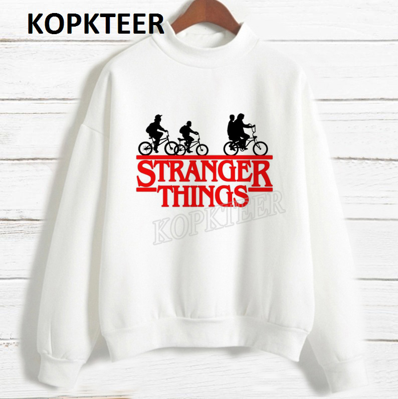 Women 2019 Fashion Hoodies Harajuku Hoodie Sudadera Mujer Stranger Things Graphic Sweatshirt Gothic Streetwear Sweat Femme