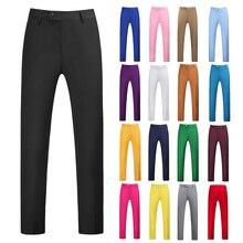 Suit Pants Formal Trousers Business Male Work-Uniform Bottoms Slim-Fit Classical Many-Colors