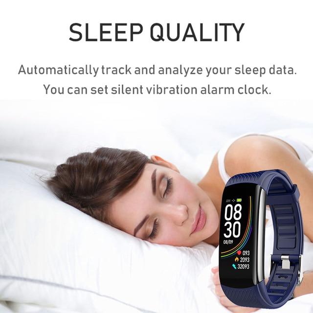 Heartrate Blood Pressure Smar Watch Body Temperature Blood Oxygen Waterproof Wristband 1