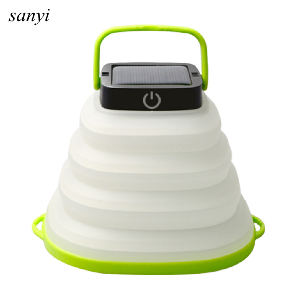 Foldable Portable Solar Powered  Camping Light Tent Lamp USB Rechargeable Outdoor Waterproof Hanging Lamp Solar Light