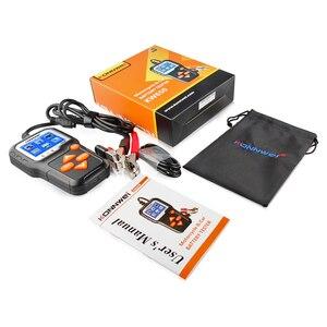 Image 5 - جهاز اختبار بطارية الدراجة النارية, جهاز اختبار بطارية الدراجة النارية 12 فولت 6 فولت KONNWEI KW650 محلل نظام بطارية 2000CCA أدوات اختبار الشحن كرنك للسيارة