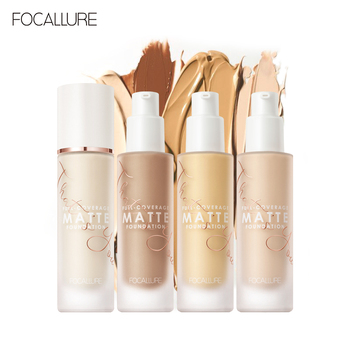 FOCALLURE Covermax Full Coverage Liquid Foundation Base Face Cream 20 colors Matte Concealer Professional  Waterproof Makeup music flower natural liquid foundation cream soft matte full coverage liquid foundation face makeup base waterproof concealer