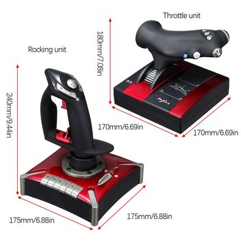 2020 PXN-2119II Flight Stick Joystick USB Simulator Gamepad Gaming Controller fr PC Flight Simulator Controlle 6