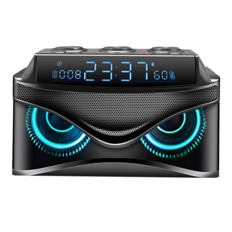 Led Digital Dimmable Desk Alarm Clock with Wireless 19W Smart Bluetooth Speaker/Micro- Tf Slot/Fm Radio/Aux