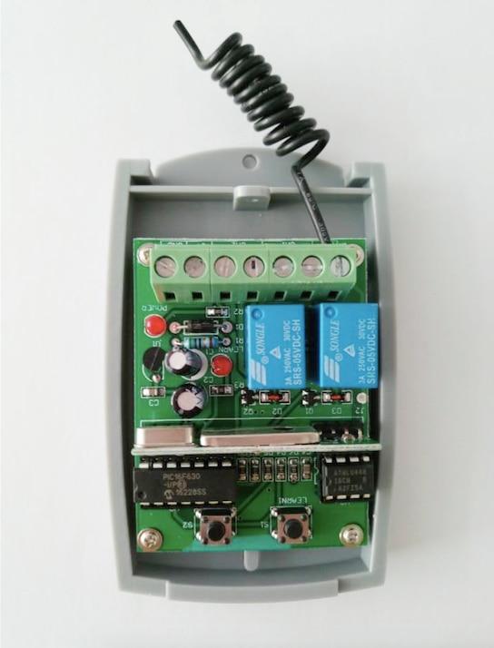 2019 nuovo Universale 2 canali Wireless Porta Del Garage 433MHZ DC12V/24 V Ricevitore Rolling Code