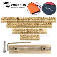 ZONESUN Custom Logo Alphabet Gift Brass Press Letter Stamp Craving Tool Branding Iron Personality Leather Wood Hot foil Stamping