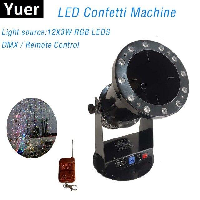 Ücretsiz kargo yüksek kalite 1200W Led düğün konfeti topu makinesi düğün makinesi konfeti makinesi için parti LED kulüp ışığı