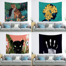 Nordic Ins Bedroom Girls Animal Tapestry Hippie Mandala Wall Hanging Polyester Travel Camping Psychedelic Tablecloth natural animal deer flamingo tapestry hippie mandala wall hanging bedroom polyester travel camping psychedelic tablecloth