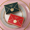5pcs/lot New Simple Creative Bronzing Gift Box Packaging Envelope Shape Wedding Candy Bags Birthday Party Cosmetic Packaging Box
