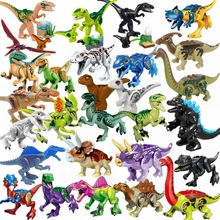 Bloques de dinosaurio Jurásico de bloqueo, Raptor Baby Triceratops Spinosaurus Tyrannosauru Rex, juguetes para bloquear el Mundo Jurásico