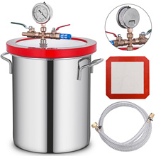 VEVOR 3 Gallon 12L Vacuum Chamber Stainless Steel kit Epoxies Degassing Urethane