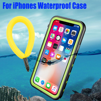 For IPhone 11 Pro Max XS XR Case RedPepper Dot Plus Clear Back IP68 Waterproof Diving Underwater PC + TPU Armor Cover IPX09