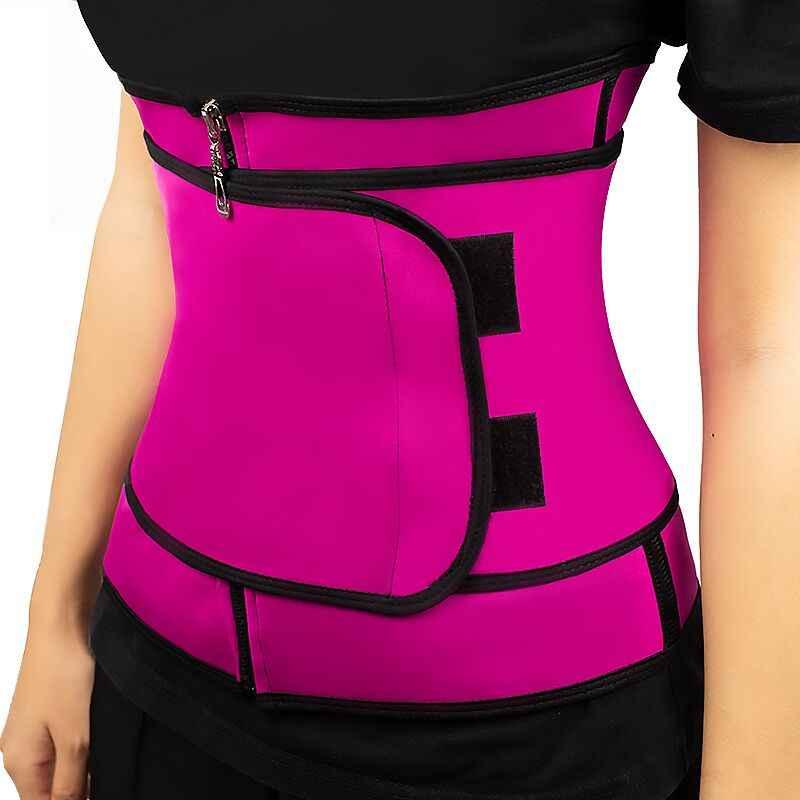מותניים מאמן תרמו זיעה חגורת מותן מאמן מחוך מחוך נשים בטן גוף Shaper Shapewear שריפת שומן כושר דוגמנות רצועה