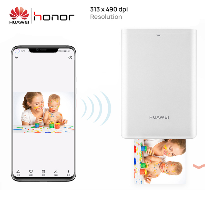 Original Huawei Zink Portable Photo Printer Honor Mini Pocke Printer Bluetooth Connect Mobile Android iOS Phone DIY Share