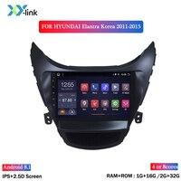 Car Radio Android dvd player gps navigation multimedia system For Hyundai Elantra 2011 2013 Korea Version autoradio accessories